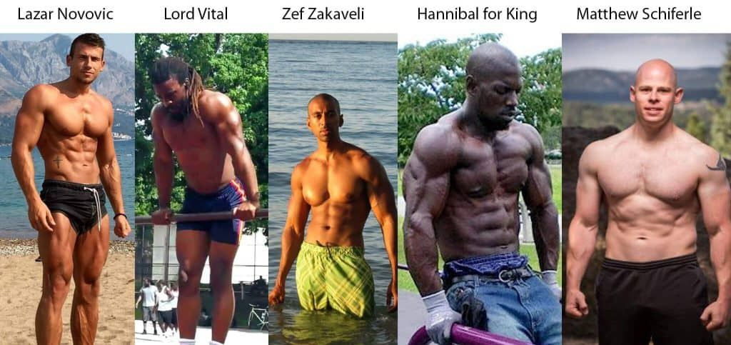lazar novovic, lord vital, zef zakaveli, hannibal for king, red delta project. high volume calisthenics workouts results