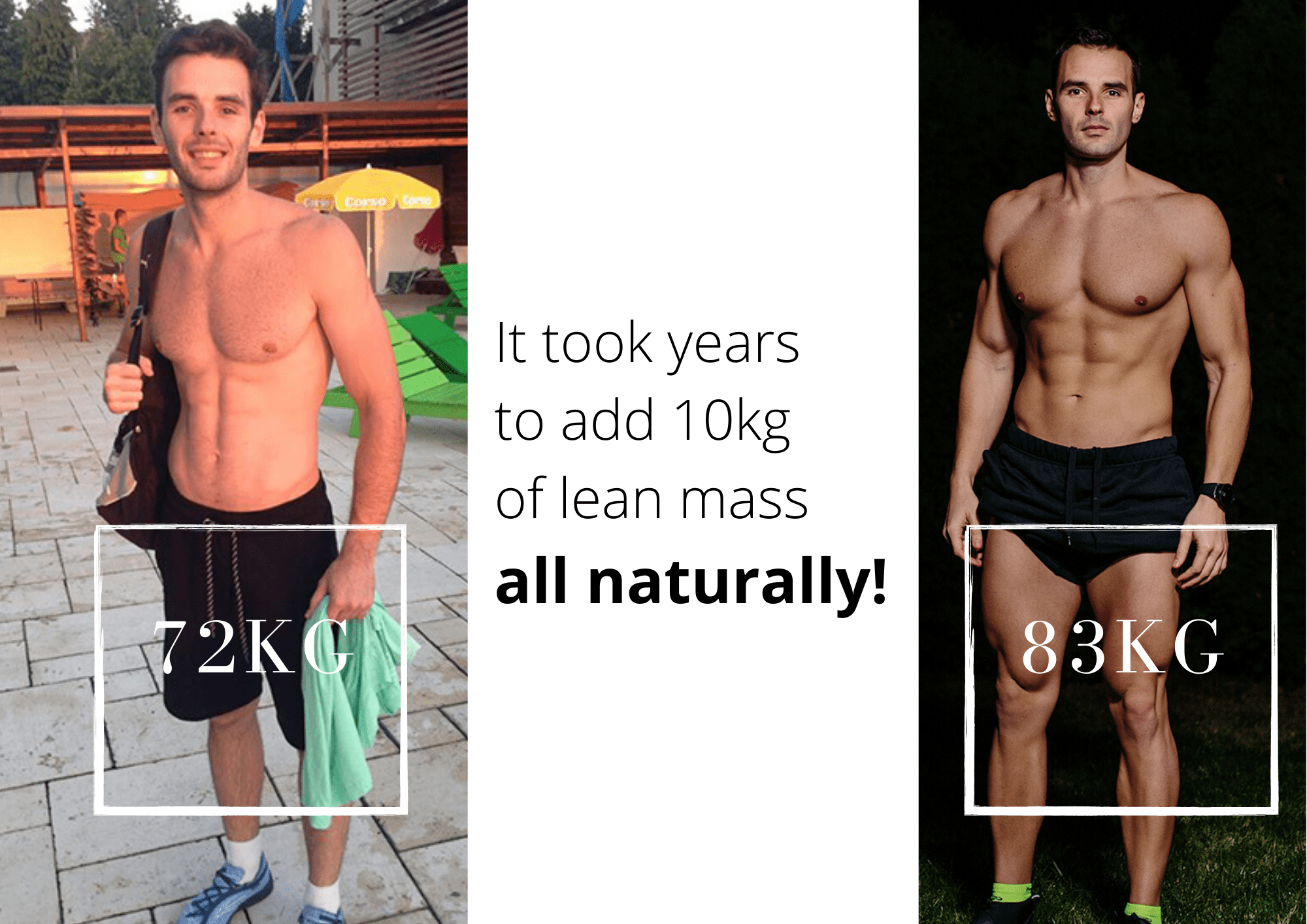Several Year to Build 10 Kilograms of Muscles